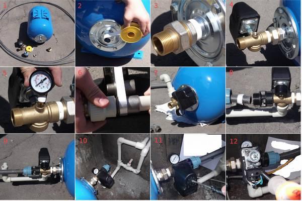 Подключение гидробака в систему водоснабжения своими руками 78