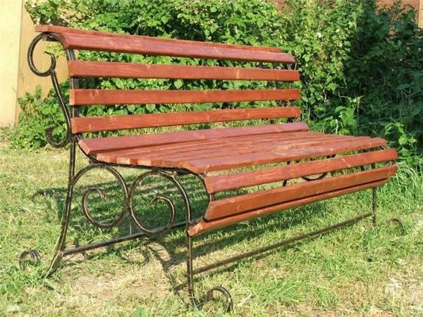 Красивые садовые скамейки своими руками