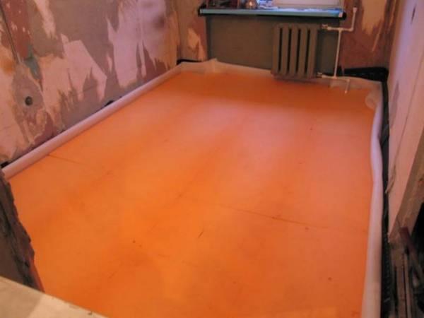 Утепляем бетонный пол пенопластом своими руками
